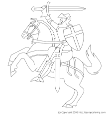 knight coloring pages getcoloringpages