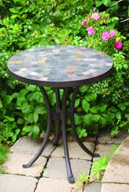 Outdoor Metal Side Table Amazon Com Outdoor Interiors Llc 31625 Mosaic Side Table 18