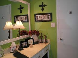 my lime green bathroom with black white and red accents my