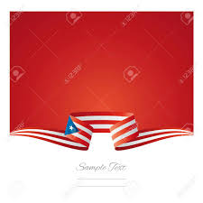 Puerto Rico Flag Abstract Background Puerto Rico Flag Ribbon Royalty Free Cliparts