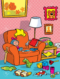 the illustration shows the interior of a children s room with