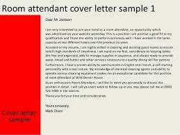 Room Attendant Cover Letter - Dining room attendant