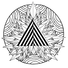 mandala mystical triangle relaxation archives coloring pages