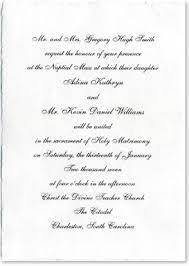 formal wedding invitation wording sles of wedding invitations wording the wedding