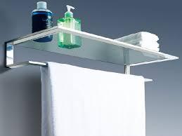 Glass Bathroom Shelf With Towel Bar Glass Inch Bathroom Shelf With Images On Bathroom Shelf With Towel