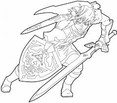 14 images of zelda toon link coloring page legend of zelda
