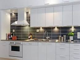 Modern Backsplash Tiles For Kitchen Astonishing White Glass Subway Backsplash Tile Modern Kitchen