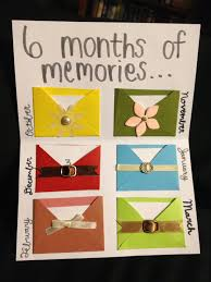 gift of the month ideas 6 month anniversary gift ideas for boyfriend diy clublifeglobal
