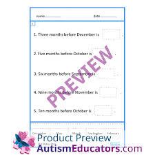 of week months of year cut u0026 paste worksheets