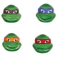 Tmnt Bathroom Set Looking Glass Figurines 4 Piece Teenage Mutant Ninja Turtles