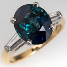 blue green rings images Natural blue green sapphire ring platinum 18k yellow gold 4 jpg
