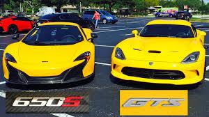 Dodge Viper 2014 - 2015 mclaren 650s vs 2014 dodge viper gts 3 races drag racing