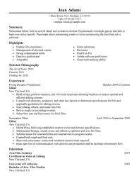 entertainment resume template sle resume template 1 media entertainment resume
