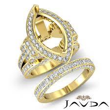 marquise diamond engagement rings diamond engagement ring marquise bridal sets 18k gold yellow halo
