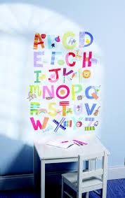 numbers alphabet wall stickers peel and stick wallies wall play alphabet