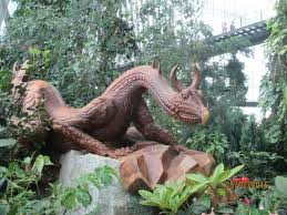 wood sculpture singapore beautiful wood carvings in the cloud forest dome picture of