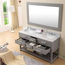 Bathroom Vanity With Side Cabinet Bathroom Cabinets Double Vanity Or Two Single Vanities White