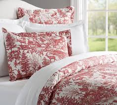 Black And White Toile Duvet Cover Alpine Toile Duvet Cover U0026 Sham Pottery Barn