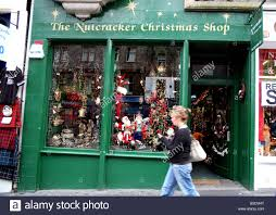 year round christmas shop in edinburgh old town stock photo