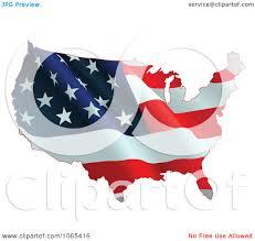 Waving American Flag Clipart Waving American Flag Map Royalty Free Vector