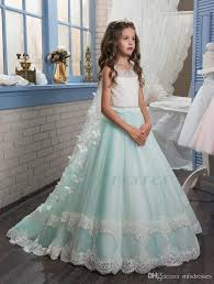 2017 new princess puffy ball gown pageant dresses for little girls