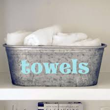 Bathroom Towel Storage by Towels Galvanized Tub Metal Buckets Hand