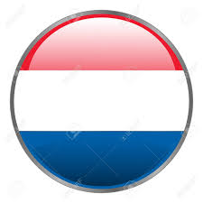Hollanda Flag Netherlands Holland Dutch Flag Round Isolated Vector Icon With