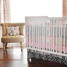 and pink chevron baby bedding