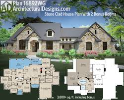 4 Bedroom Ranch House Plans Plan 23609jd One Story Mountain Ranch Home With Options Outdoor