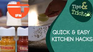 Kitchen Hacks by Quick And Easy Kitchen Hacks Ifn Tips U0026tricks Youtube