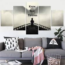 game of thrones home decor 5 panel painting canvas modern home decor game of thrones canvas