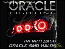 11 14 infiniti qx56 qx80 led halo rings headlights bulbs