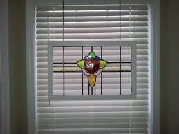 what is the most secure way to install a stained glass panel in a