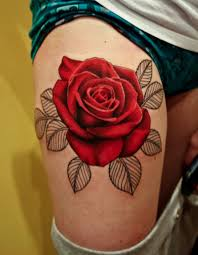 flowers on thigh rose tattoo designs for women flower tattoos designs 3d rose