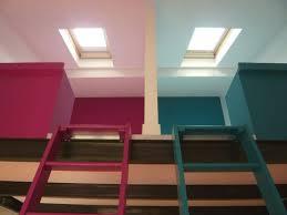 mezzanine dans une chambre avant après chambres sous les toits