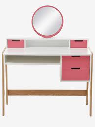 Preisg Stige Schreibtische Vertbaudet Frisiertisch Und Schreibtisch Für Mäddchen In Weiß Rosa