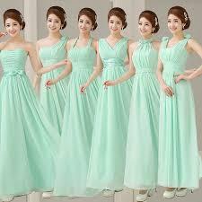 mint green bridesmaid dresses aliexpress buy mint bridesmaid dresses to formal