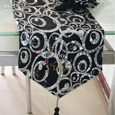 white and silver table runner black and silver table decor pearloasis info
