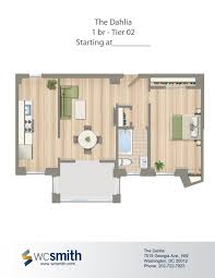 Clarence House Floor Plan by The Dahlia Washington Dc Apartment Finder