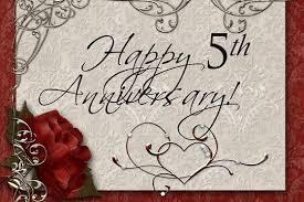 5th wedding anniversary card captivating fifth wedding anniversary