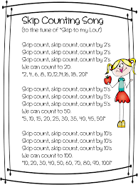 hello everyone we are working hard this week on skip counting i