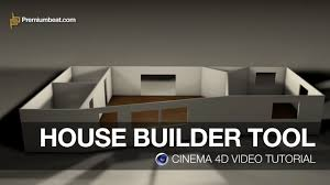 cinema 4d video tutorial house builder tool youtube