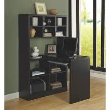 Corner Bookcase Canada 11 Shelf Corner Desk Cappuccino Brown Desks U0026 Workstations
