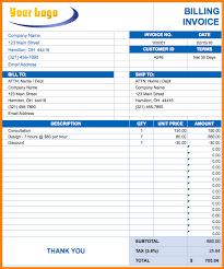 4 tax invoice bill format excel simple bill