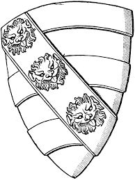 heraldic shield with a lion u0027s face clipart etc
