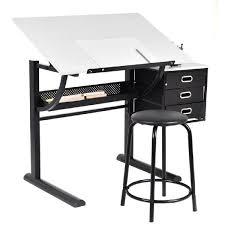 bureau de dessin table à dessin inclinable avec tabouret bureau d architecte