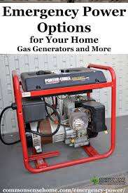 earthquake generator emergency power options for your home gas generators and more