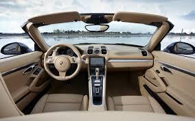 Porsche Boxster Interior - first drive 2013 porsche boxster automobile magazine