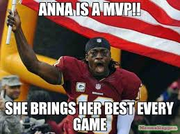 Anna Meme - anna is a mvp she brings her best every game meme game day