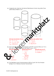 oberfläche zylinder stereometrie zylinder mathematik